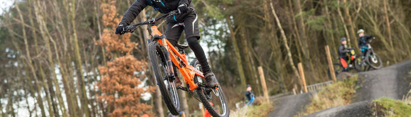 Young rider at Greenrig Bike Park in Falkirk