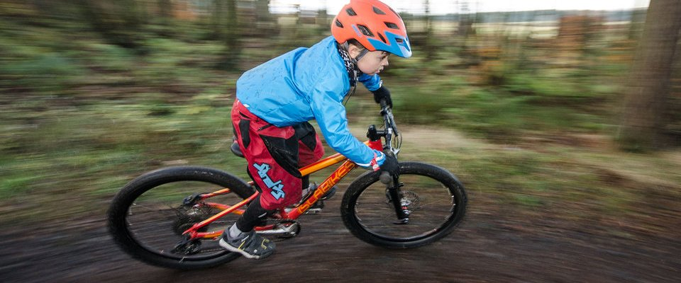 Young Kid Riding Mtb