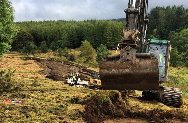 Mountain Bike Trail Construction in progress At Newcastleton 7Stanes bike park